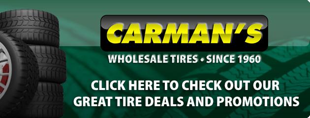 Carmans Wholesale Tires Savings
