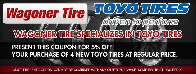 Wagoner Tire Toyo Promo