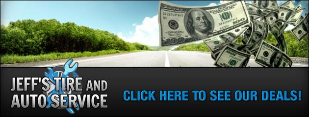Jeffs Tire and Auto Service Savings