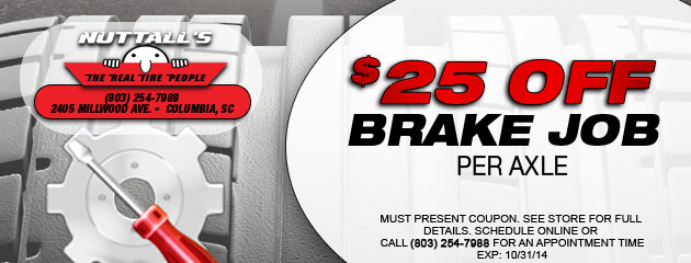 $25 off brake job per axle