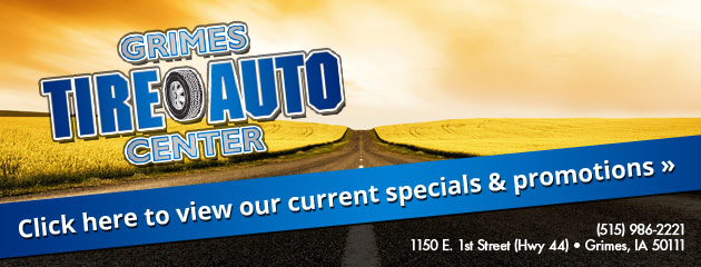 Grimes Tire and Auto Center Savings