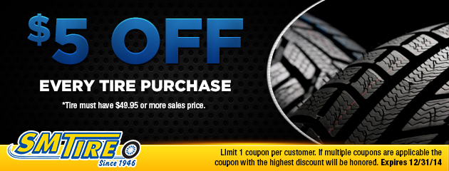 $5 off every tire purchase
