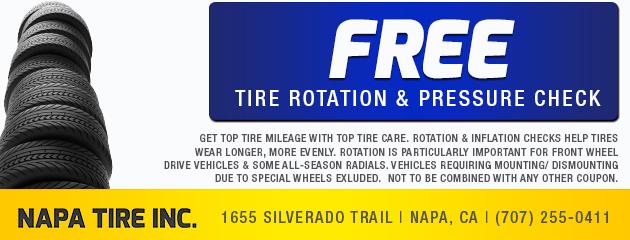 Free Tire Rotation & Pressure Check