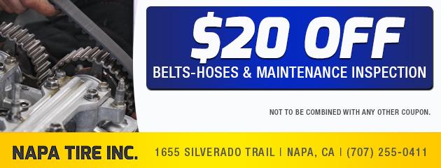 Belts, Hoses & Maintenance Inspection