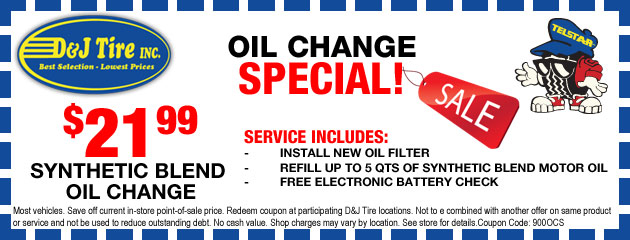 Oil Change & Filter Coupon