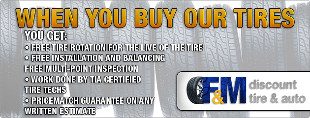 Free with tire purchase slider