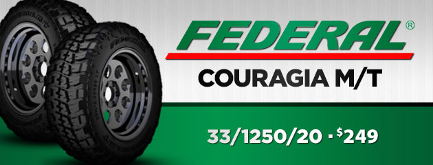 33/1250/20 Federal Couragia M/T for $239