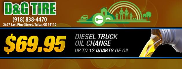 Diesel Truck Oil Change Special