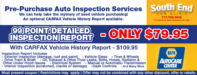 Pre-Purchase Inspection Savings
