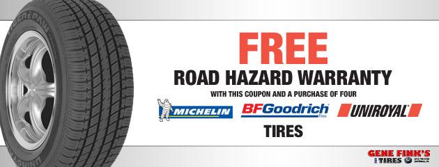 Free Road Hazard Warranty