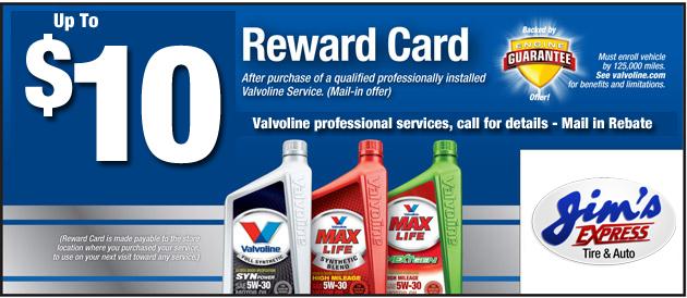 $10 off Valvoline Professional Services