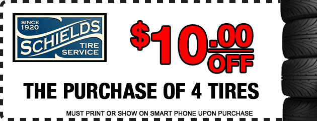 $10 off of 4 tires deal