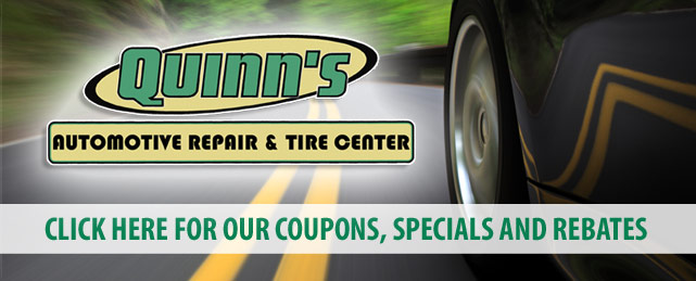 Quinns Automotive Repair and Tire Center Savings