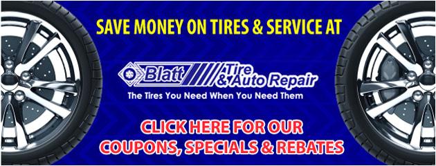 Blatt Tire and Auto Repair Savings