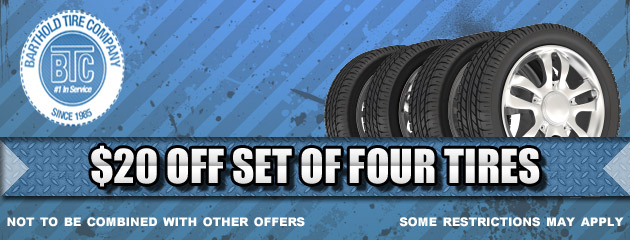 Barthold Tire $20 Off Four Tires