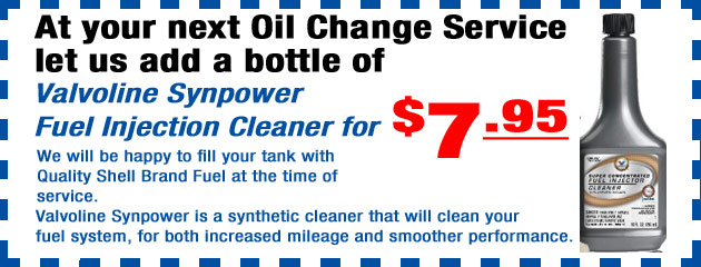 Valvoline SynPower Fuel Injector Cleaner Special Offer