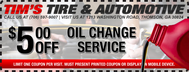 $5 Off Oil Change Service
