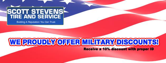 military discount slider
