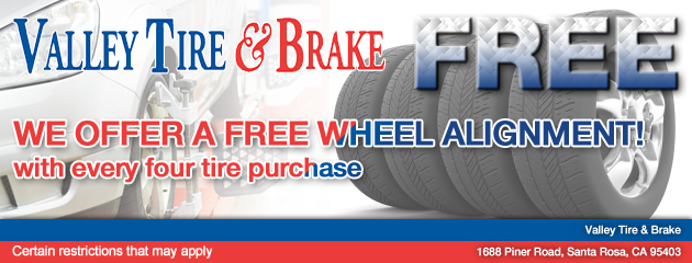 Free alignment with 4 tires