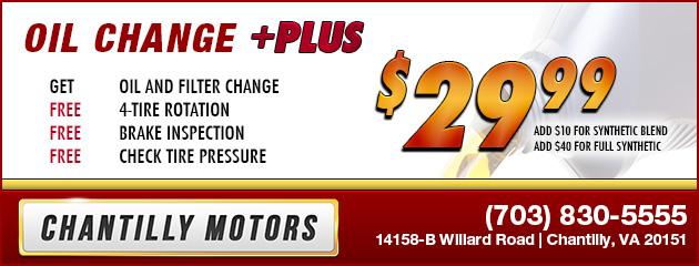 Oil Change Plus - $29.99