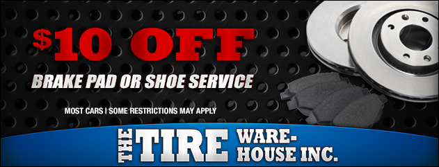 $10 Off Brake Pad or Shoe Service