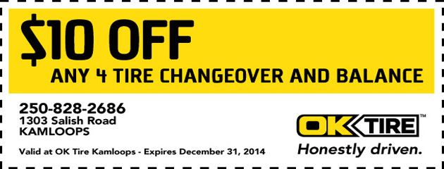 $10 Off 4 Tire Changeover and Balance