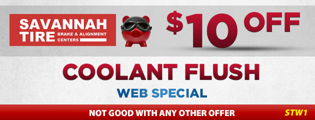 $10.00 Off Coolant Flush - STW1