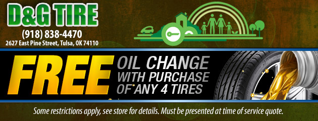 Free Oil Change with purchase of any 4 Tires