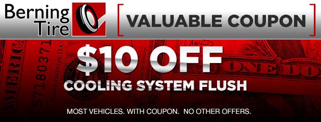 $10 Off Cooling System Flush