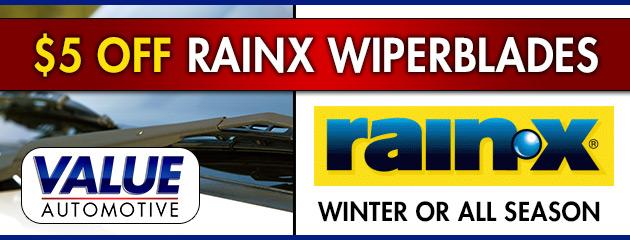 $5 Off RainX Wiperblades