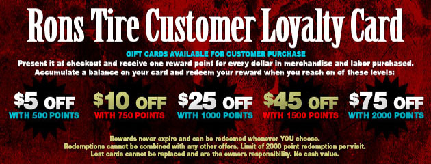 Rons Tire_Customer Loyalty Card