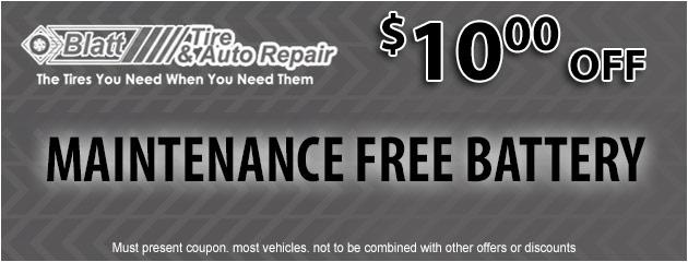 Maintenance Free Battery - $10 off