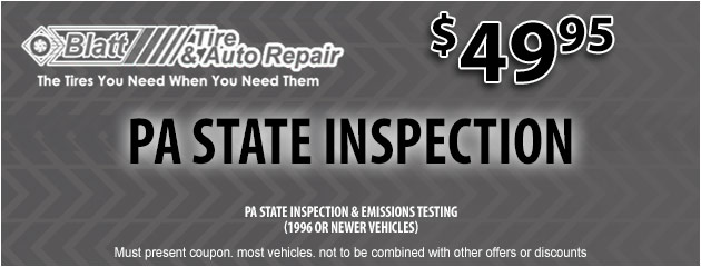 PA State Inspection - $49.95