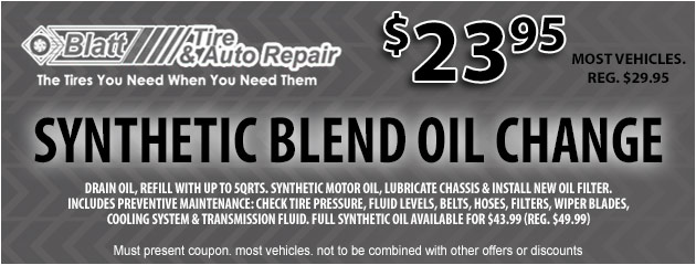 Synthetic Blend Oil Change - $23.95