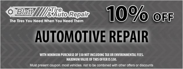 10% off of Automotive Repair