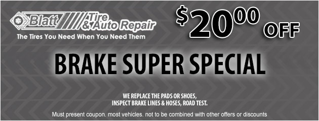 Brake Special - $20 off