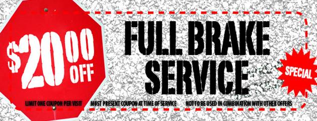 Albuquerque Tire Inc.  - $20.00 Off Full Brake Service