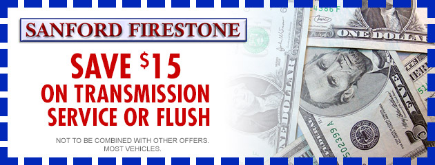 $15 OFF Transmission Service or Flush