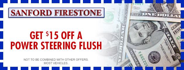 $15 OFF Power Steering Flush
