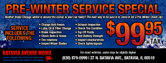 Pre-Winter Service Special