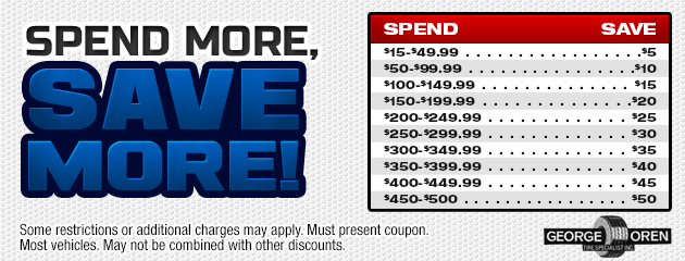 Spend more, save more!