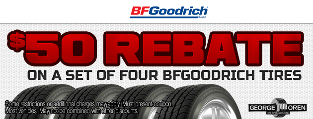 BFGoodrich $50 Rebate