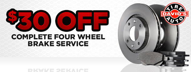 $30 off complete four wheel brake service