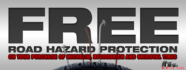 Free road hazard protection