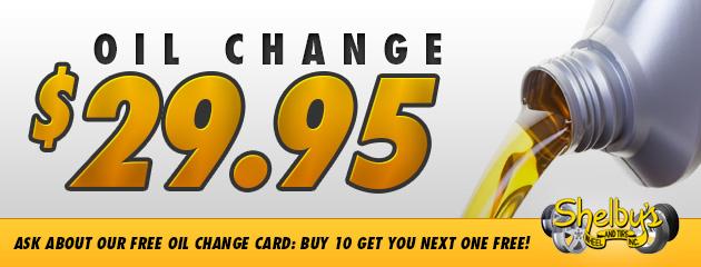 Oil Change: $29.95