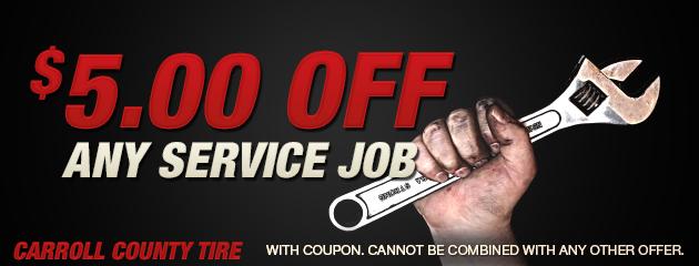$5 off any service job