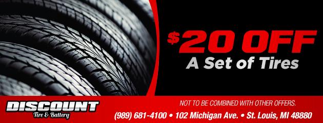 $20 Off A Set of Tires