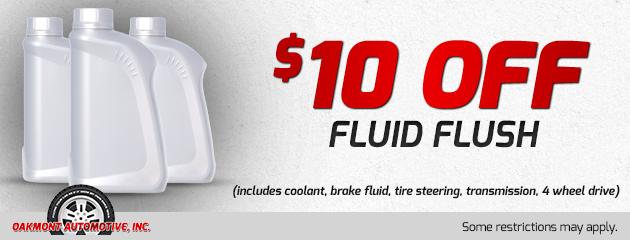 $10 off fluid flush