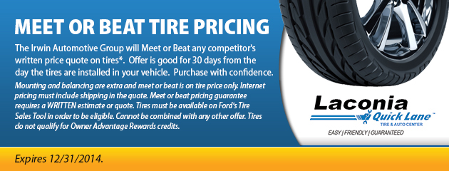Meet or Beat Tire Pricing