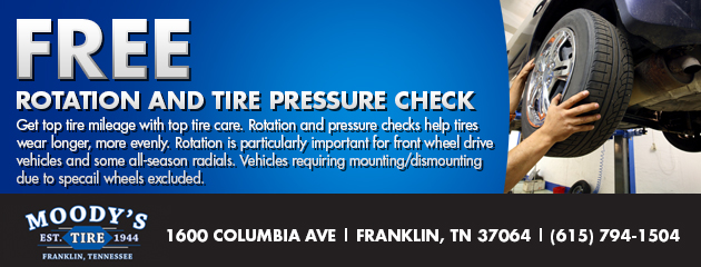 Free Rotation and Tire Pressure Check